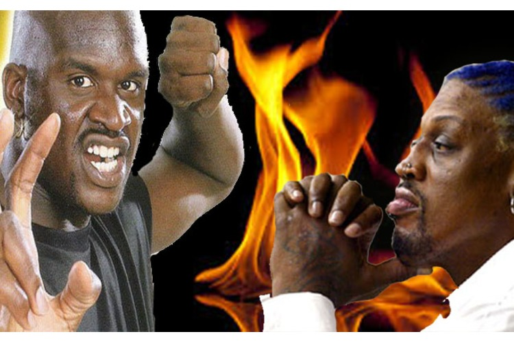 What Happens When DENNIS RODMAN and SHAQ Start Pushing? Check It Out!