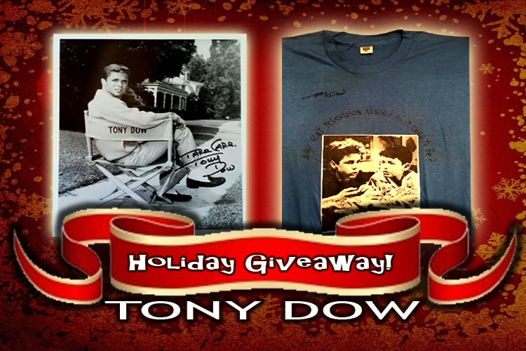 Tony Dow's HAPPY HOLIDAYS Giveaway! Enter to WIN some SIGNED STUFF!