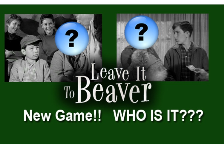 "All New LEAVE IT TO BEAVER Game!! Play ""Who Is It??"""